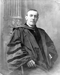 Woodrow Wilson in academic robes