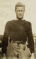 Hobey Baker in Princeton football uniform.